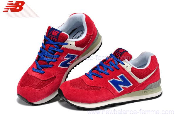 new balance bleu et rouge femme